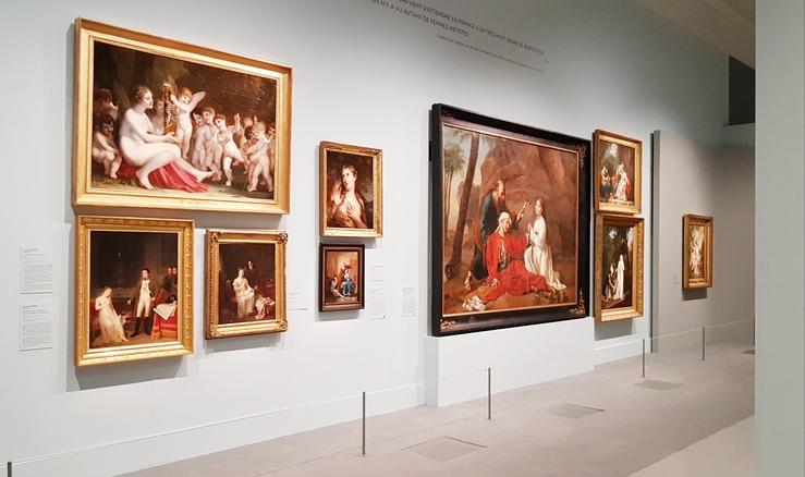 Vue de l'exposition Peintres femmes, 1780—1830, Musée du Luxembourg, Paris, 2021