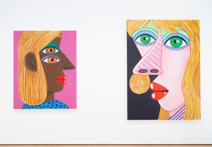 Brian Calvin, Vue de l'exposition More Days, galerie Almine Rech, Matignon, Paris, 2021