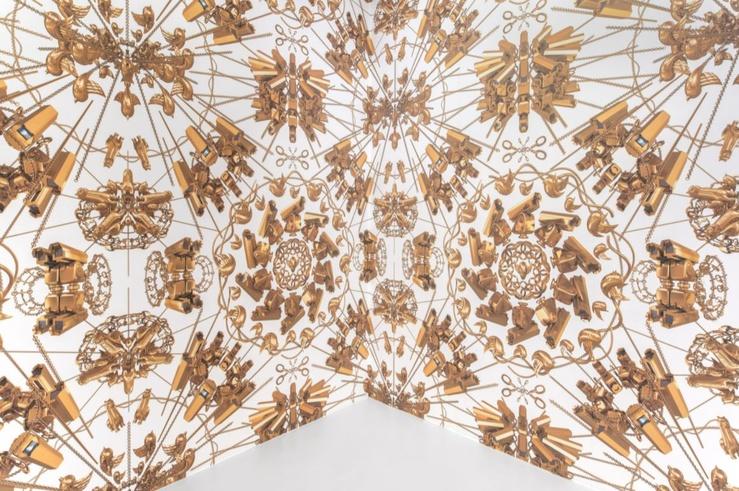 Ai Weiwei, vue de l'exposition Marbre, Porcelaine, Lego, galerie Max Hetzler, Paris