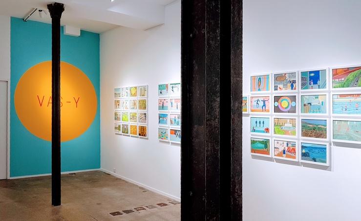 Marie-Claire Mitout, Vue de l'exposition Les plus belles heures, galerie Claire Gastaud, Project Room, Paris, 2021