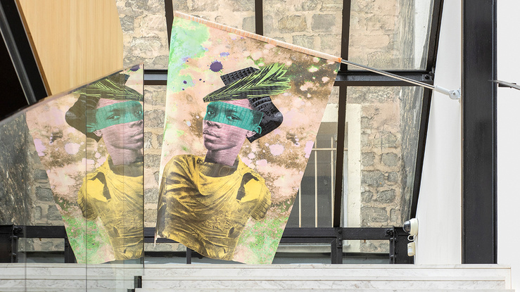 Raphaël Barontini, Soukhos, vue de l'exposition au Studion des Acacias, Paris, 2021