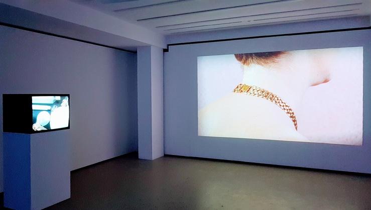 Isabelle Cornaro, vue de l'exposition Infans à la Fondation d'Entreprise Ricard, Paris, 2021