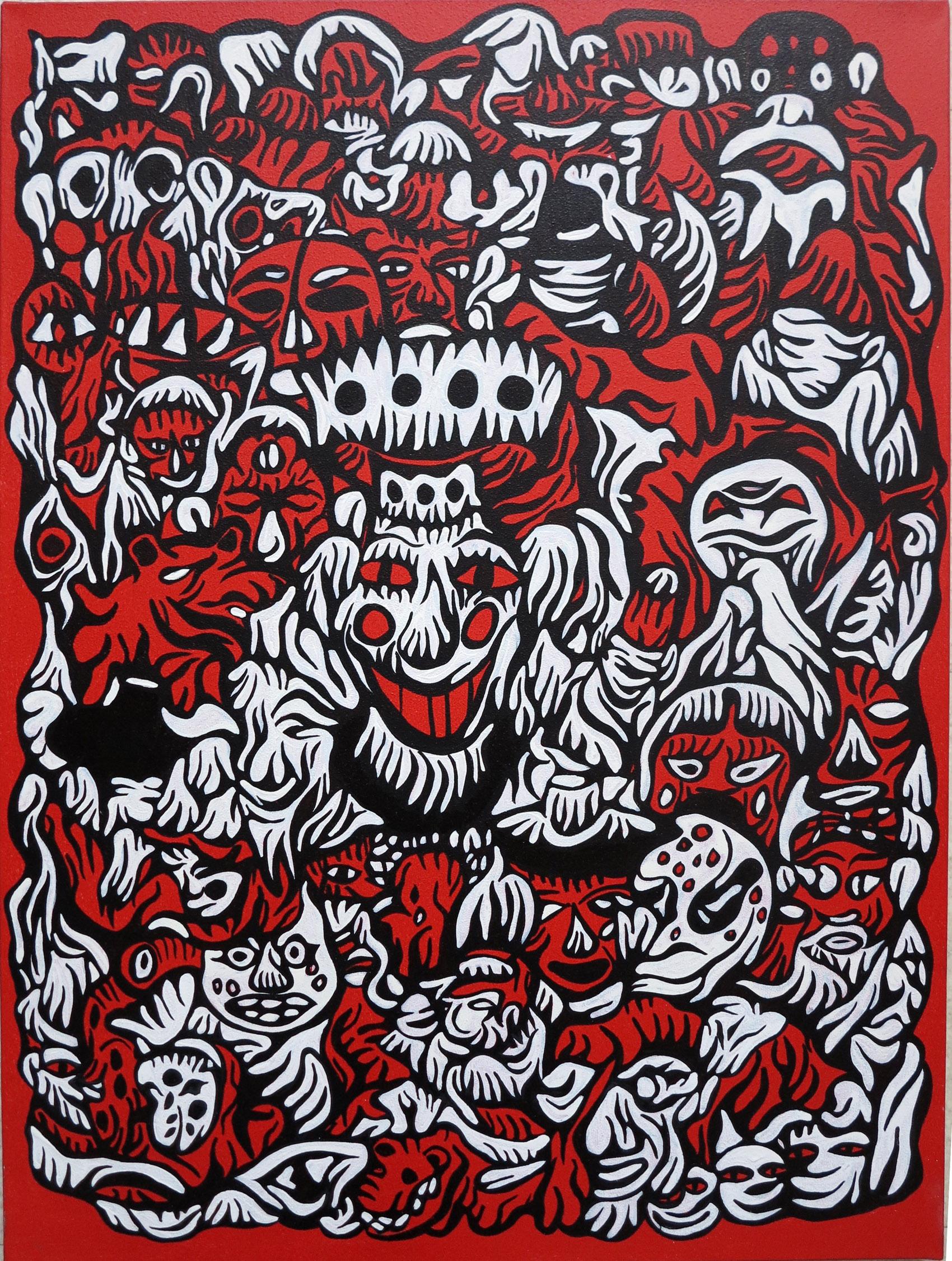 Fabien verschaere  korean fantasy   73 x 54 cm 1 original